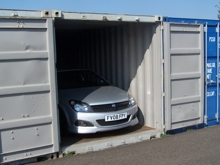 Car Stored in a Steel Container
