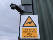 Guardian Storage Site is under 24 hour CCTV surveillance